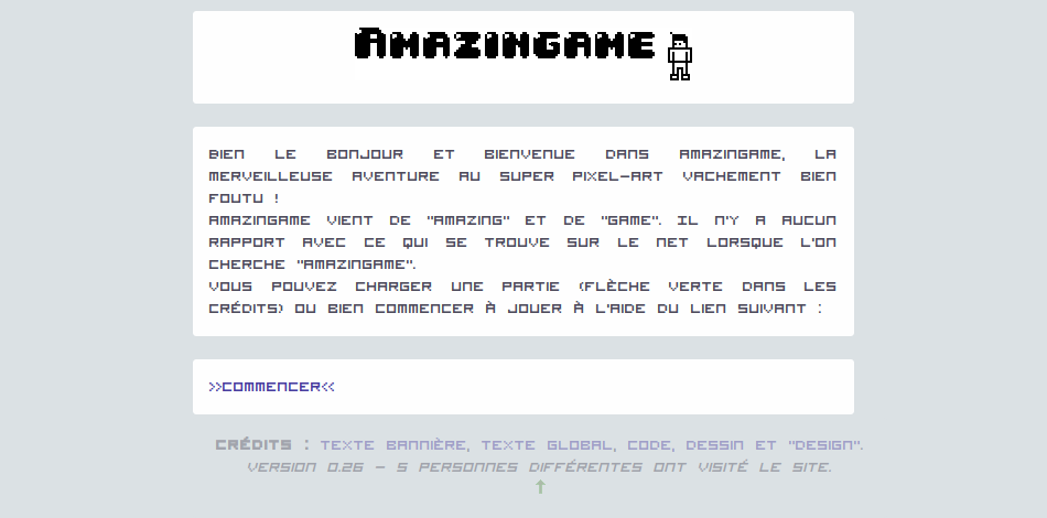 screenshot projet amazingame