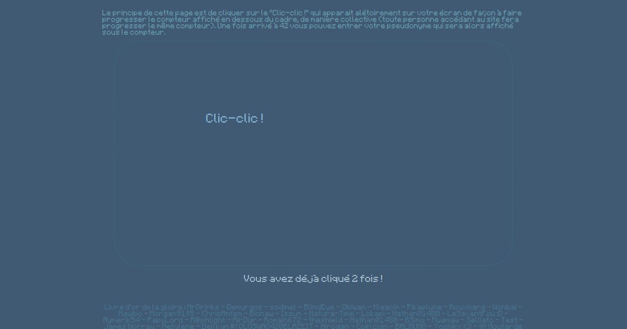 screenshot projet clic