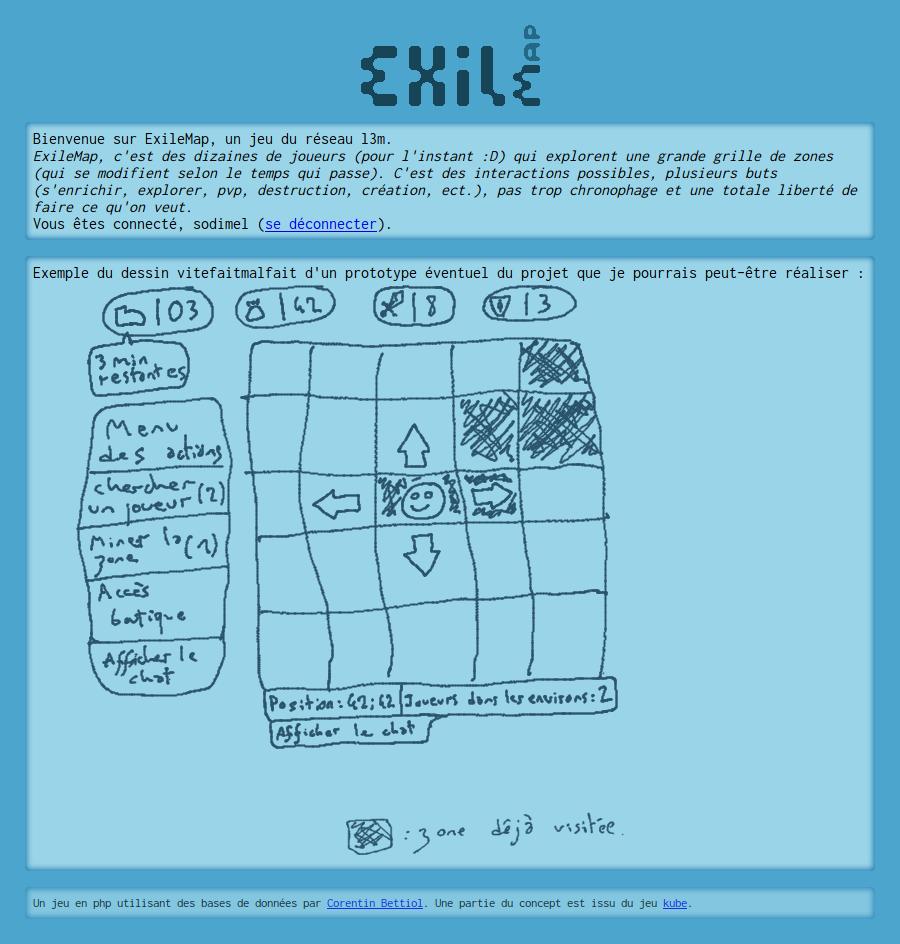 screenshot projet exilemap