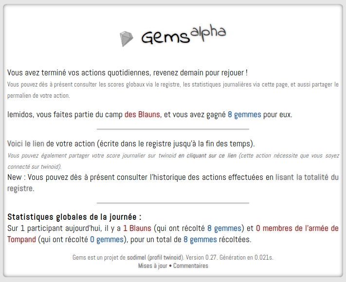 screenshot projet gems