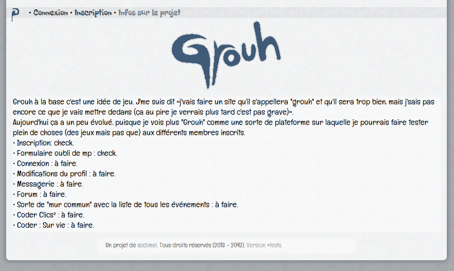 screenshot projet grouh