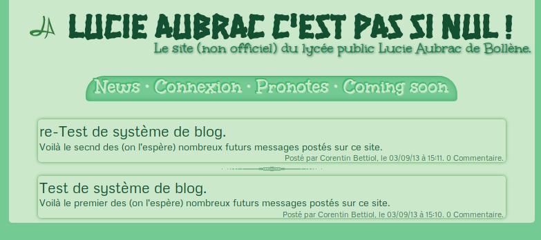 screenshot projet lycée