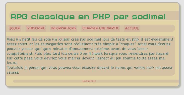 screenshot projet rpg