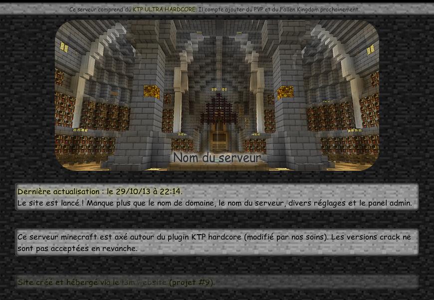 screenshot projet serveur