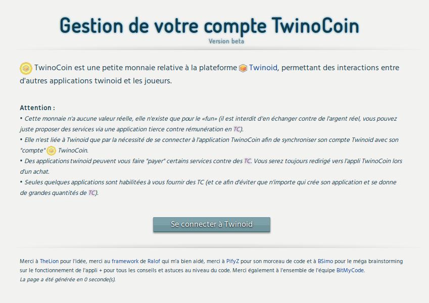 screenshot projet twinocoin